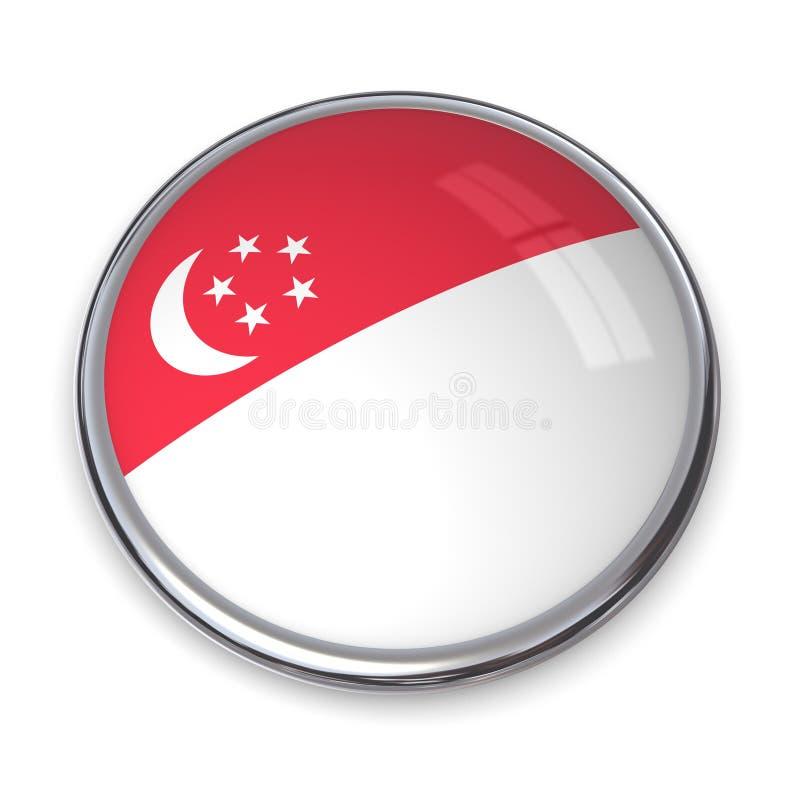 Tasto Singapore della bandiera royalty illustrazione gratis