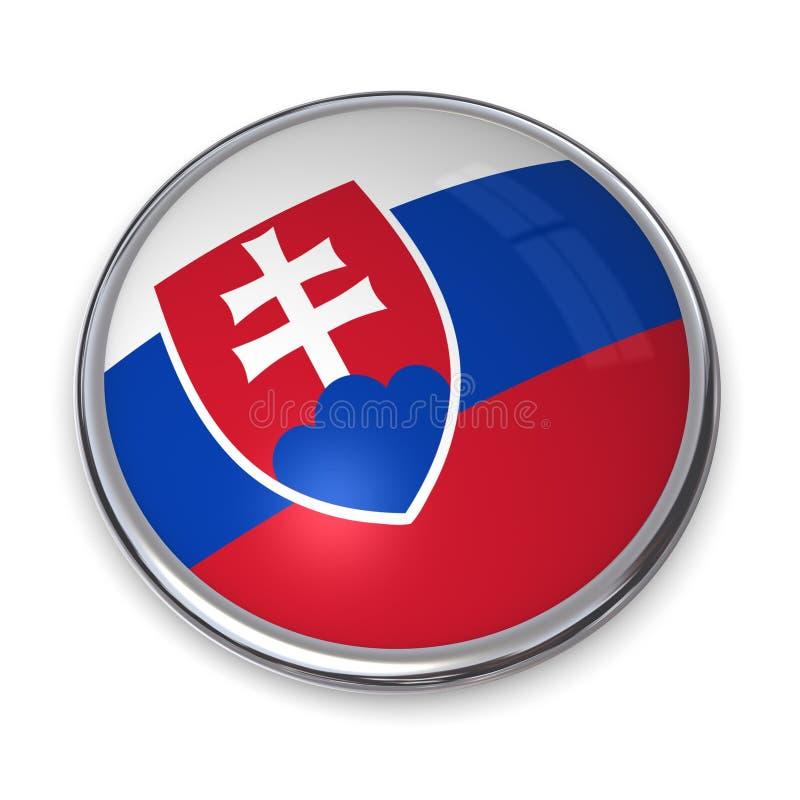 Tasto Slovacchia della bandiera royalty illustrazione gratis