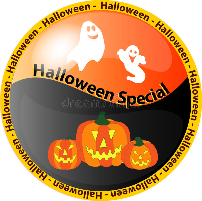 Tasto speciale 1 di Halloween illustrazione vettoriale