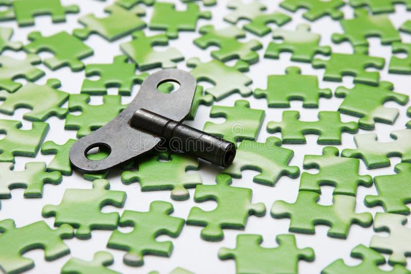 Tasto sul puzzle fotografie stock libere da diritti