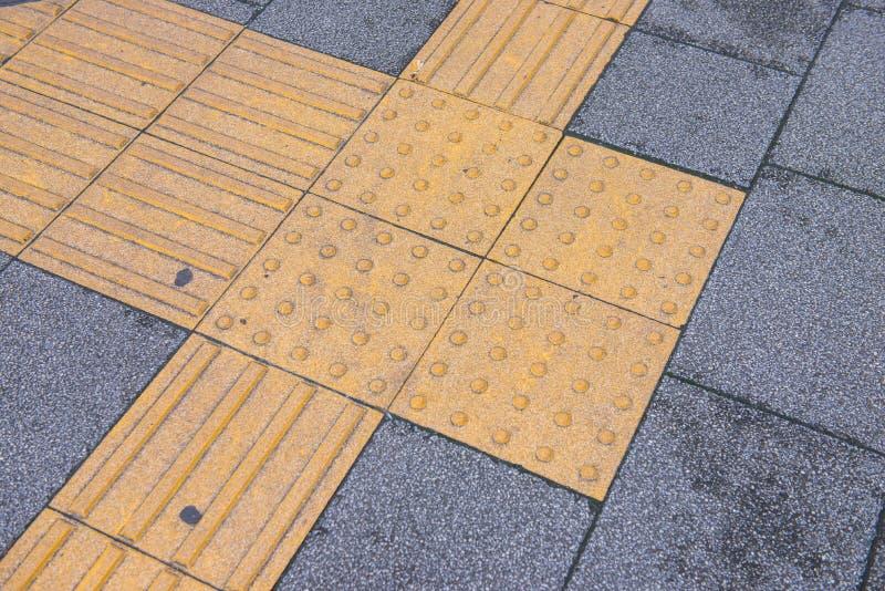 Tastpflasterung für blindes Handikap lizenzfreies stockfoto