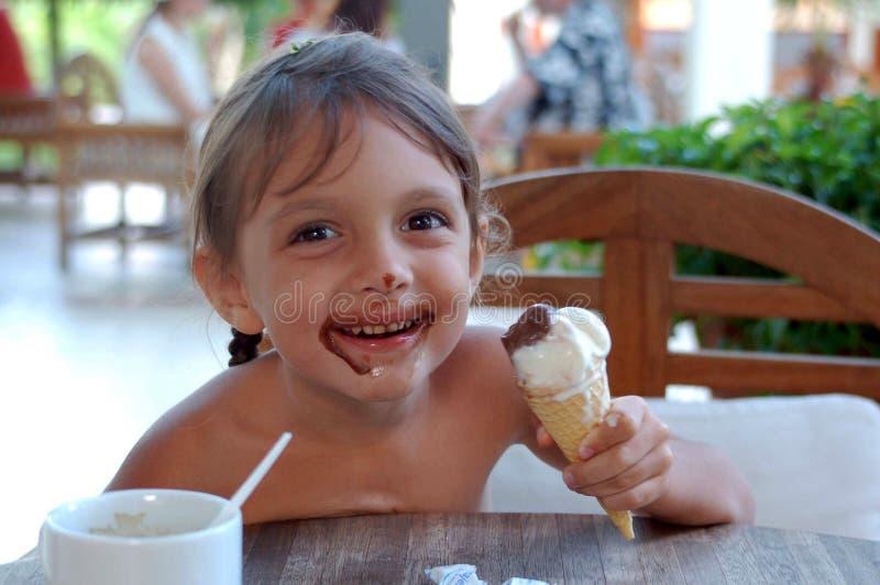 Tasty ace-cream stock images