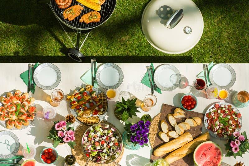 Tasty barbecue food stock photo