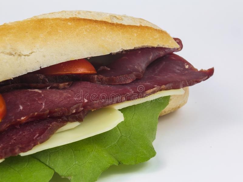 Tasty beef sub sandwich stock photos