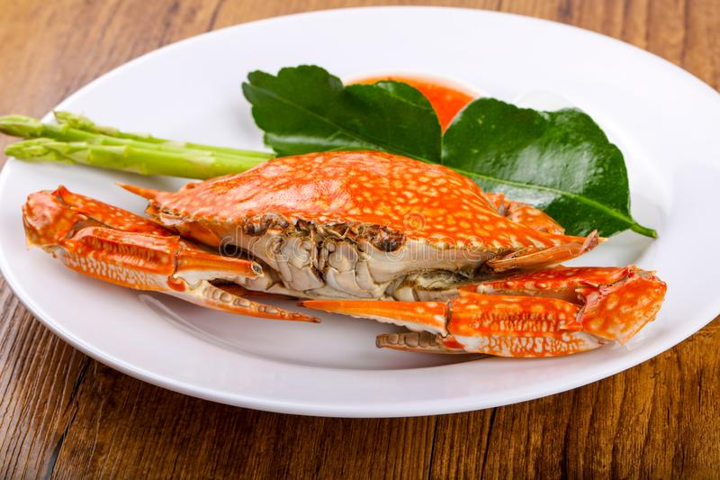 Boiled crab royalty free stock image