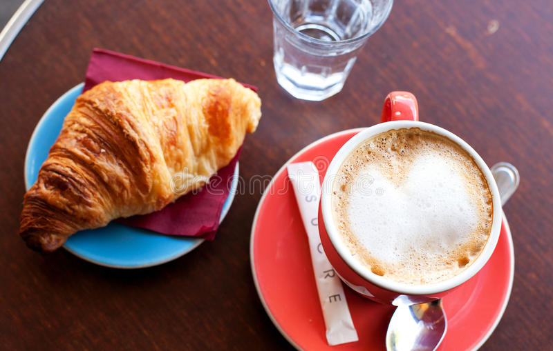 Download Tasty Breakfast In A Parisian Street Cafe Stock Photo - Image: 16532890