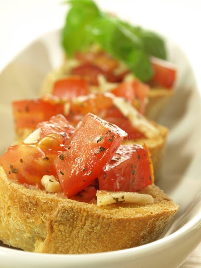 Tasty bruschetta, close up stock photo