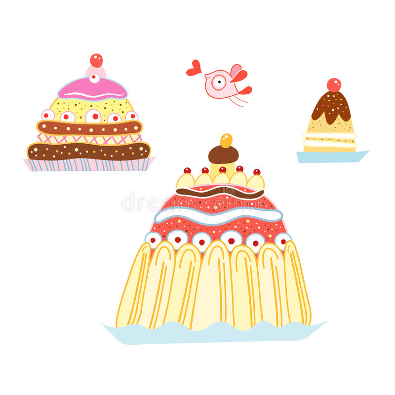 Download Tasty cakes stock vector. Image of dough, blue, sweet - 19081947