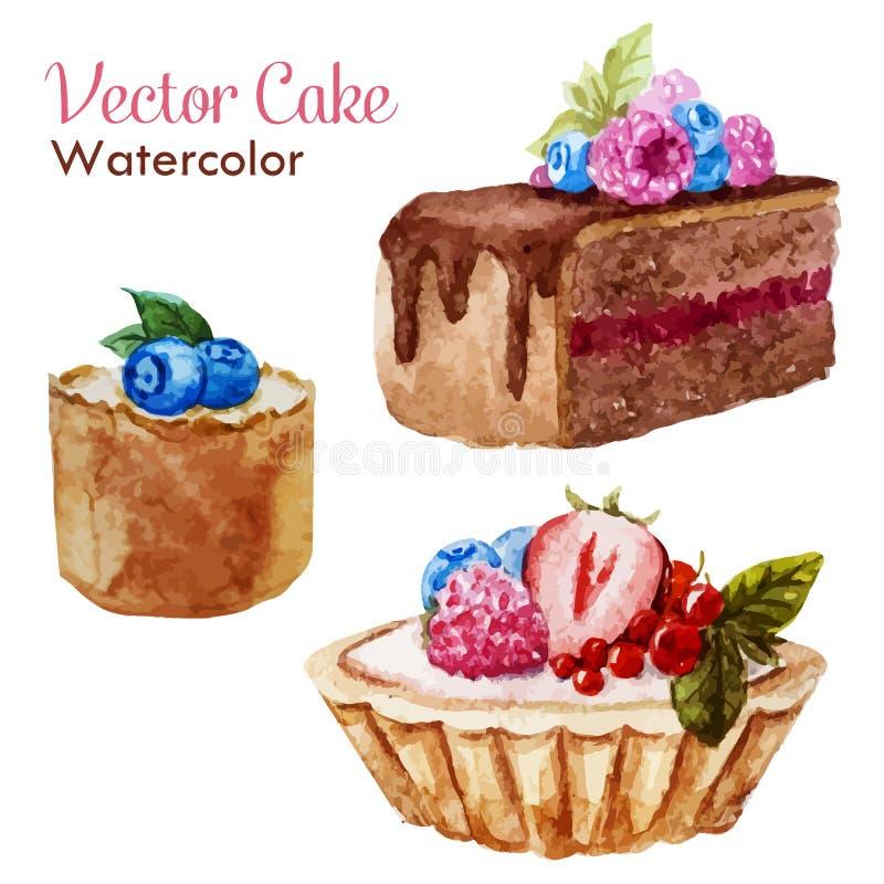 Tasty cakes vector illustration