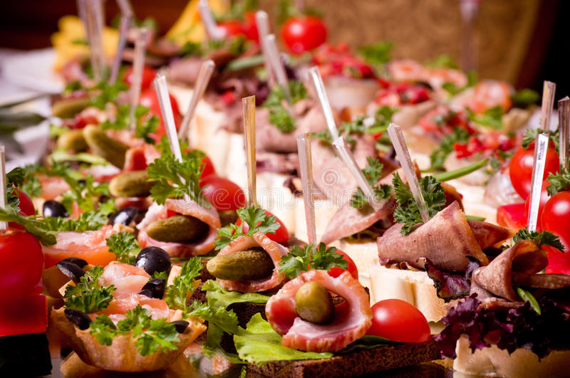 Tasty canape for an event party