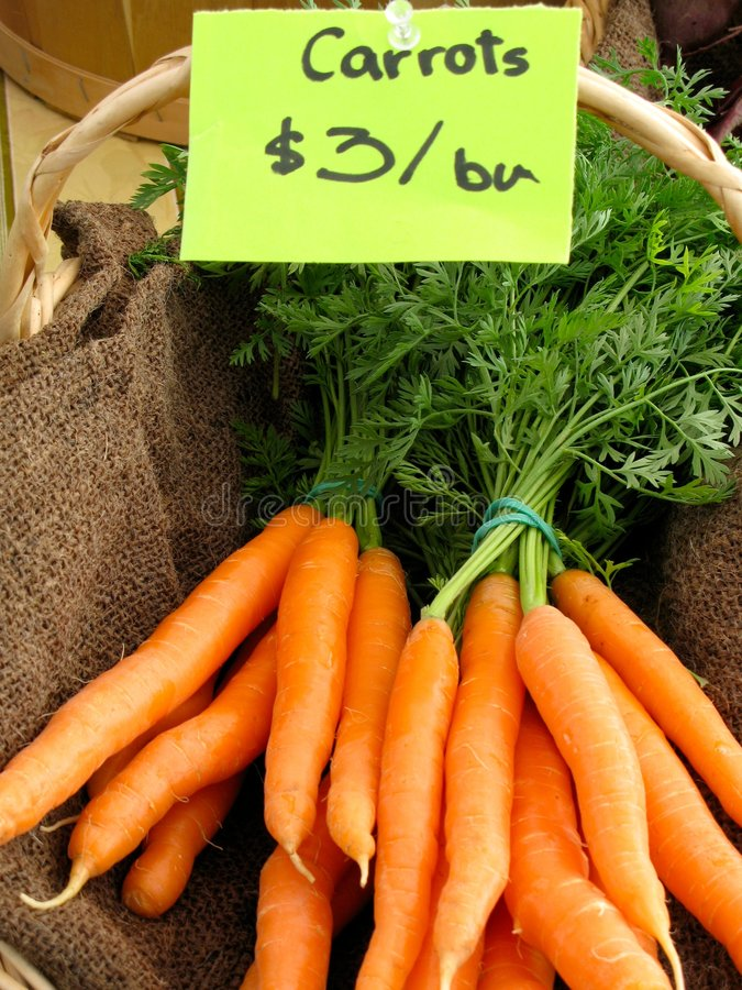 Tasty Carrots stock images