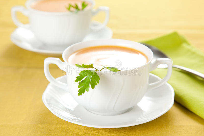 Download Tasty Carrots Puree With Parsley Stock Photo - Image of orange, green: 12795614