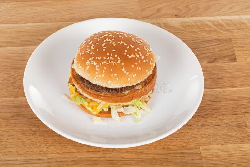 Tasty cheeseburger arkivfoton