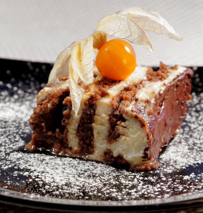 Download Tasty Chocolate Cake With Fhysalis Stock Photos - Image: 23040513