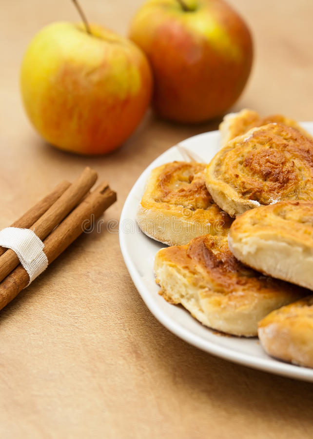 Download Tasty Cinnamon Buns stock photo. Image of close, spice - 12536954