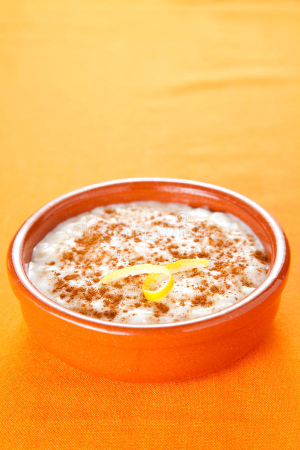 Tasty Cinnamon Rice Pudding Dessert Stock Photos