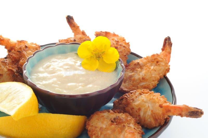 Tasty Coconut Shrimp royalty free stock photos