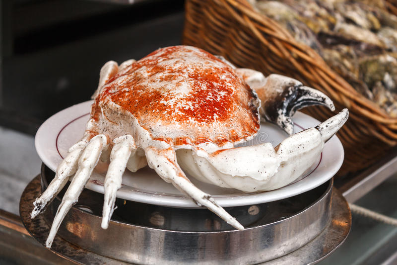 Tasty crab on the plate royalty free stock images