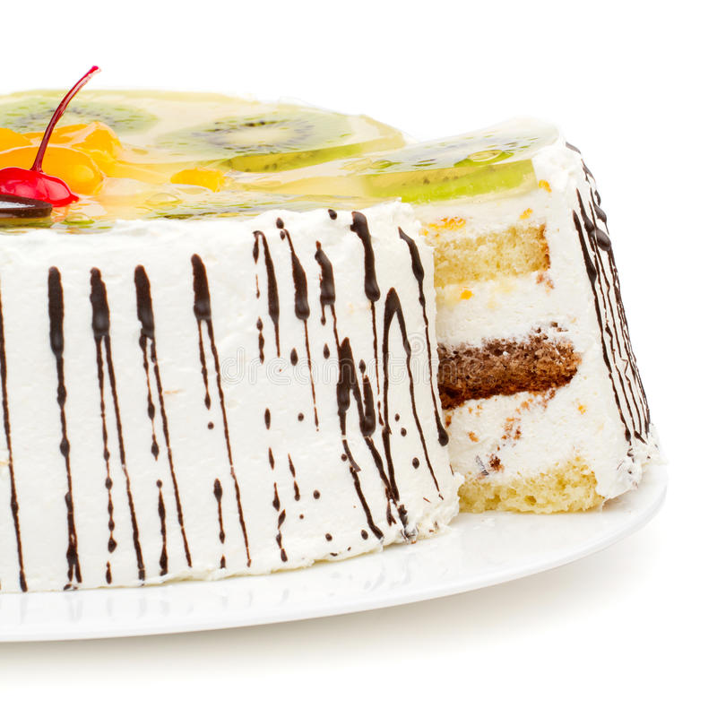 Download Tasty creamy cake stock photo. Image of apple, decoration - 24112254