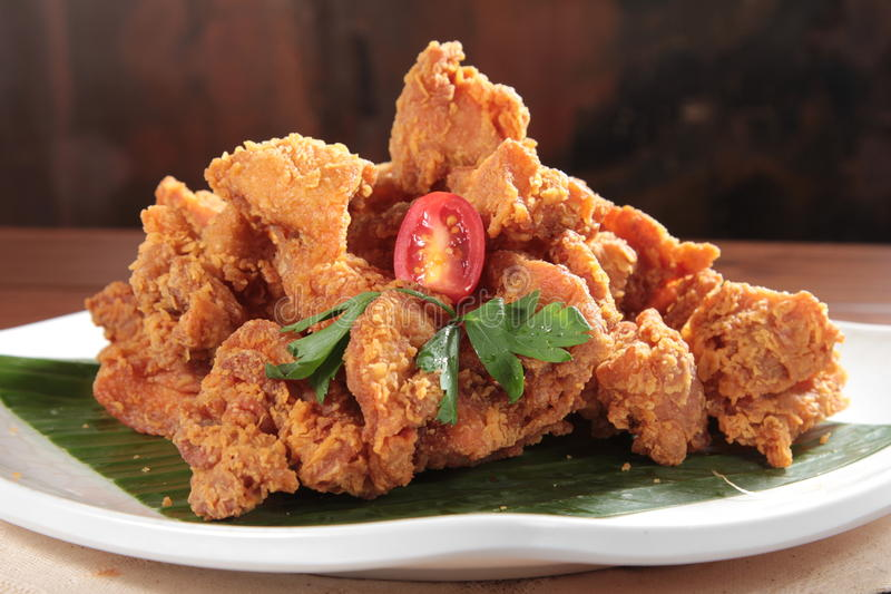 A tasty cuisine photo of deep fried chicken royalty free stock image