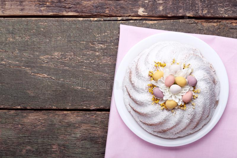 Tasty easter cake stock photography