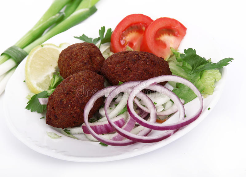 Tasty falafels meal stock photo