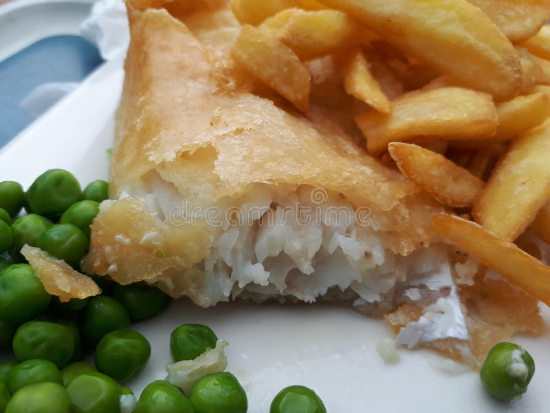 Tasty Fish And Chips royalty free stock image