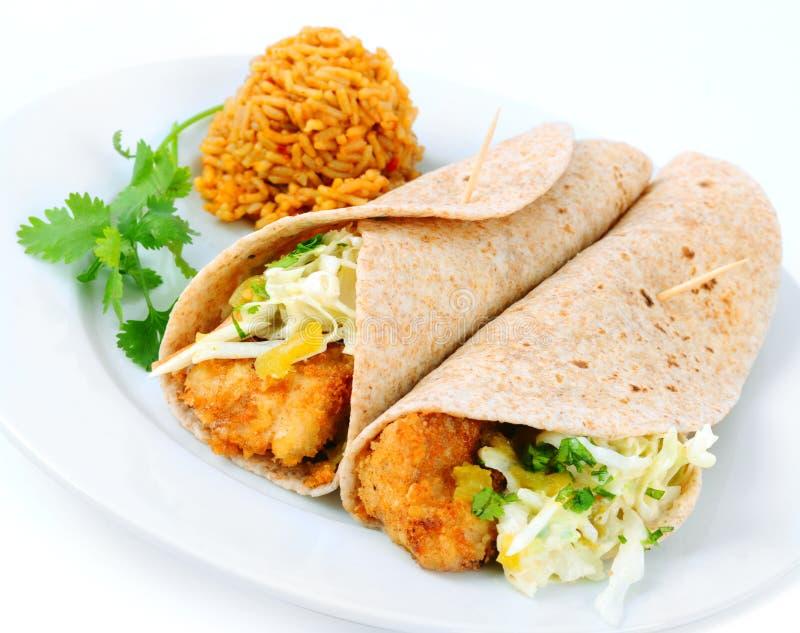 Tasty Fish Tacos stock photos