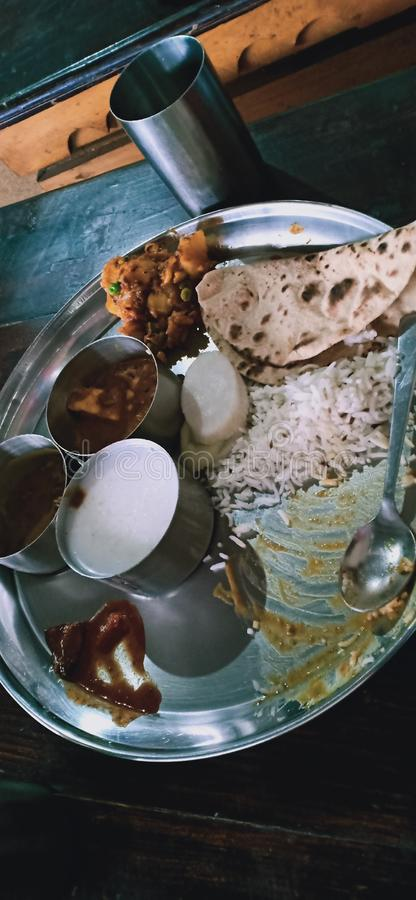 Tasty food at kullu manali. The only food tasty food and please taste the kullu manali dish one time try you my experience is 5 star this food stock photo