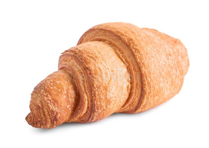 Tasty fresh crispy croissant isolated. On white royalty free stock photo