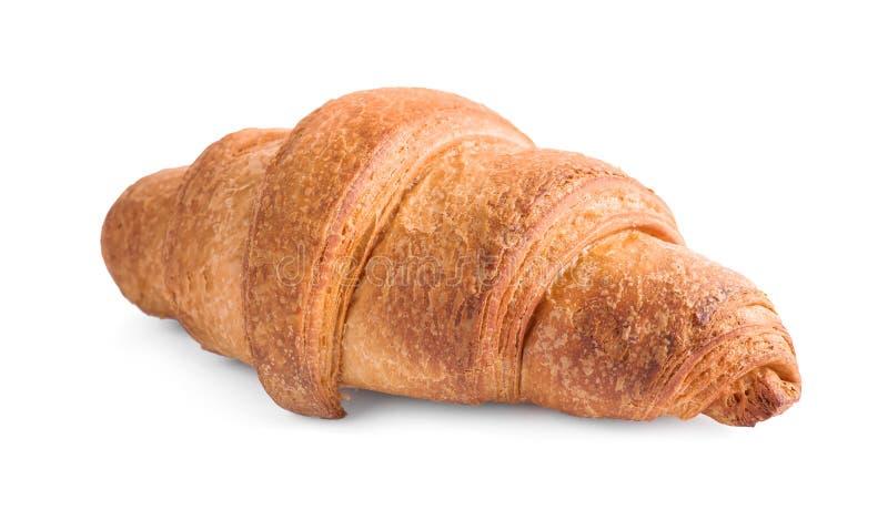 Tasty fresh crispy croissant isolated. On white royalty free stock images