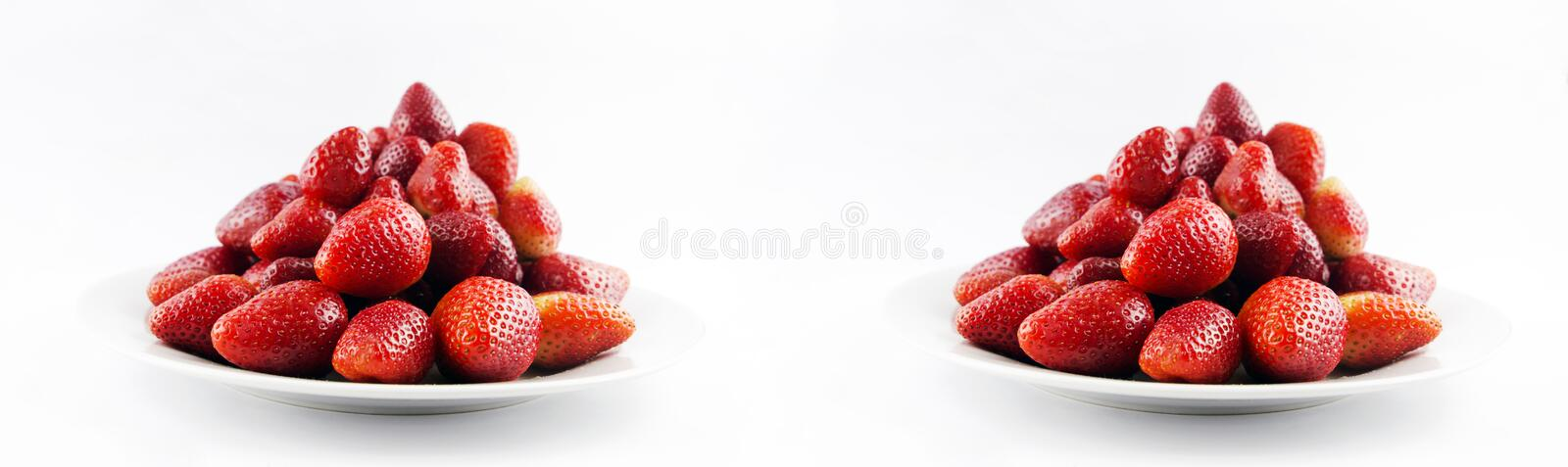 Tasty fresh red strawberry stock images
