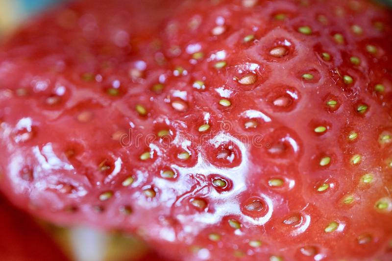 Tasty fresh strawberry summer season close up royalty free stock images
