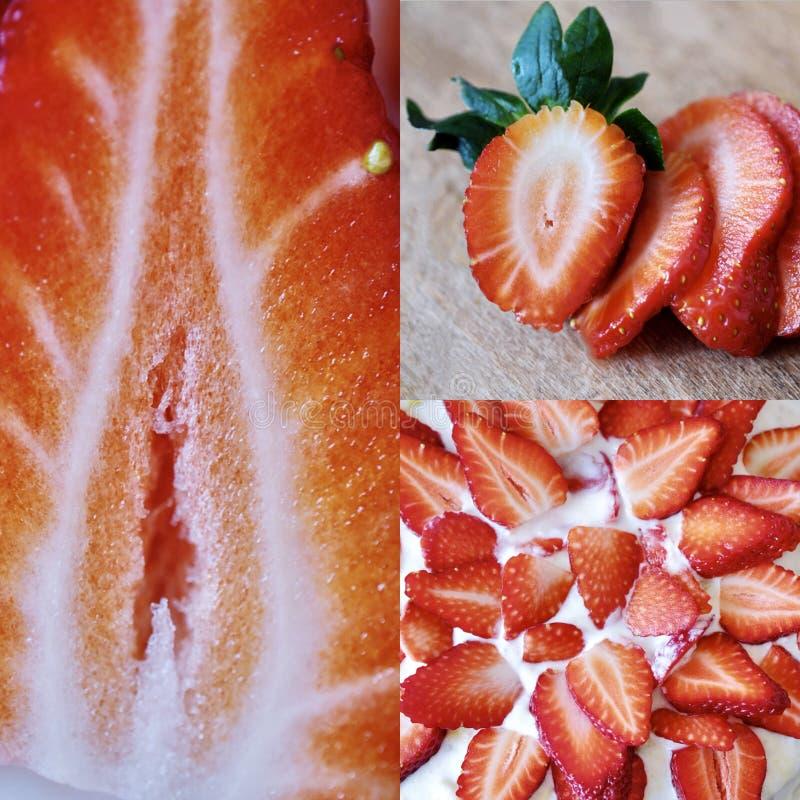 Tasty fresh strawberry summer season close up royalty free stock photography