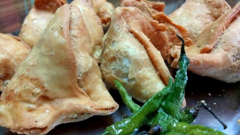 Tasty fried Samosas stock photography
