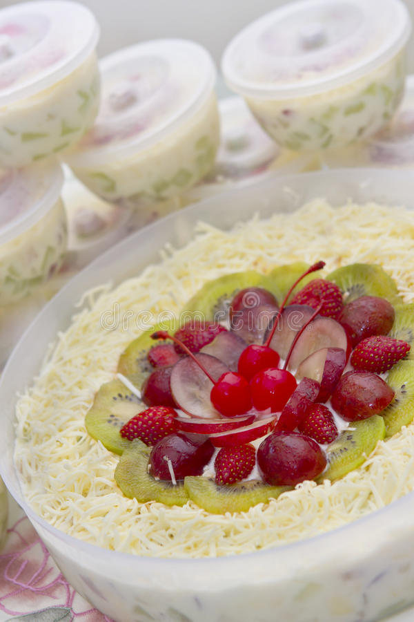 Tasty Fruit salad royalty free stock photo