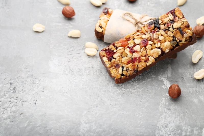 Tasty granola bars royalty free stock image