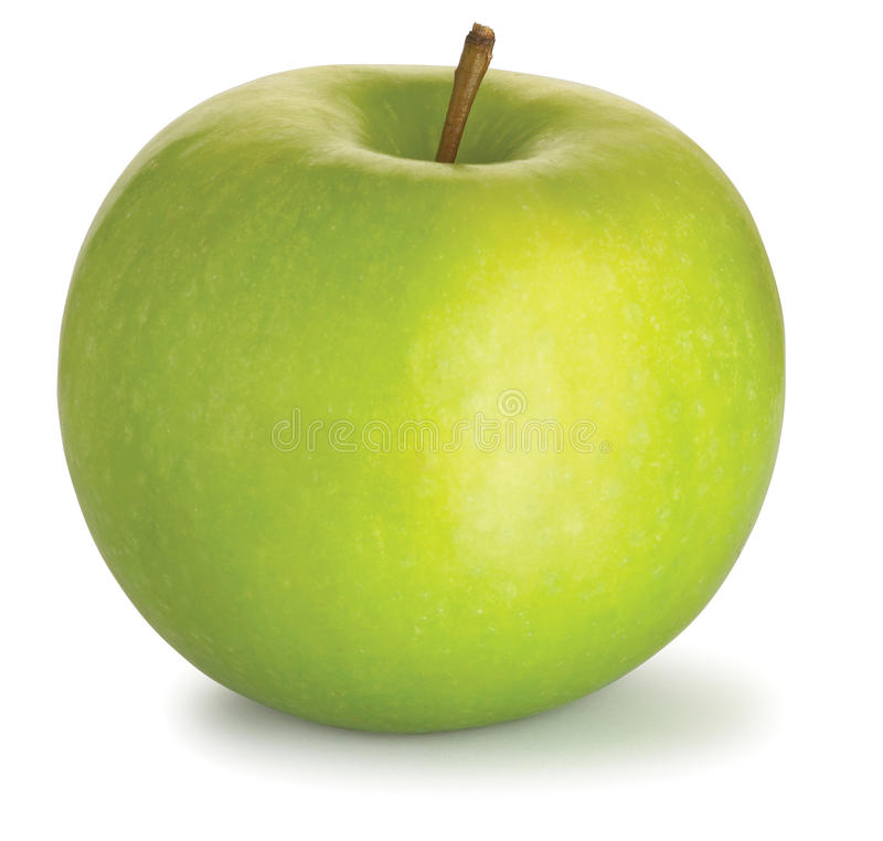 Free Tasty Green Granny Smith Apple On A White Backgrou Stock Images - 15244604