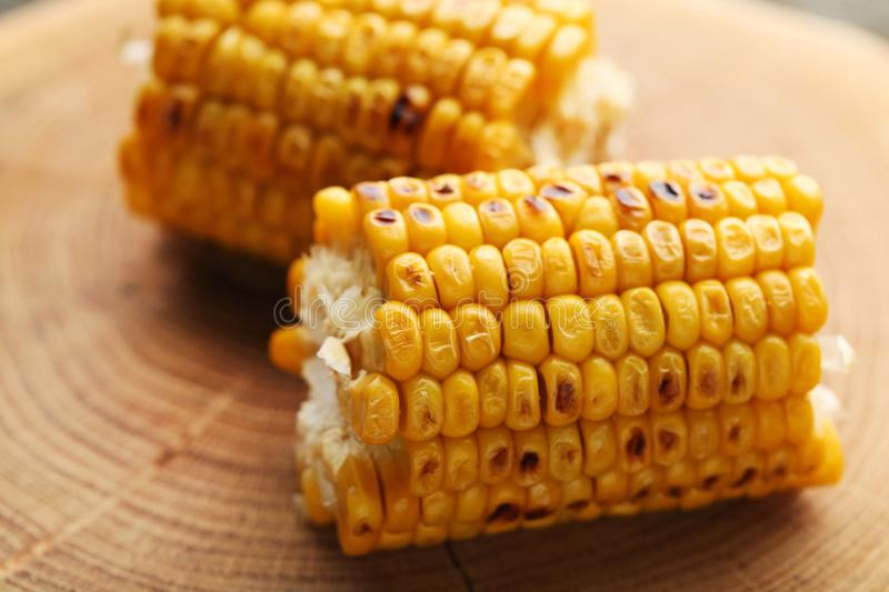 Tasty grilled corns royalty free stock photos