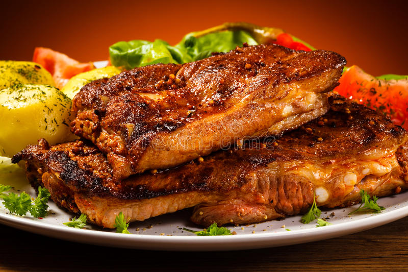 Download Tasty grilled ribs stock photo. Image of fried, food - 31411744