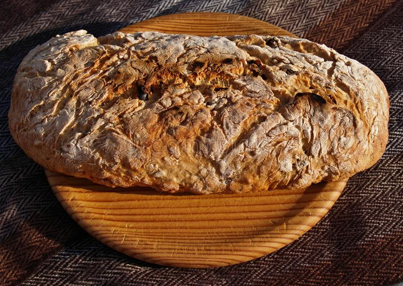 Fresh baked bread - crunchy and delicious. Tasty and healthy, a fresh baked bread stock photos