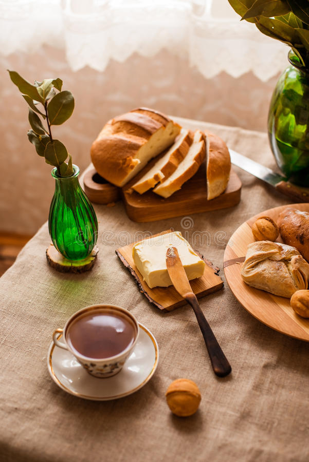Tasty home breakfast royalty free stock images