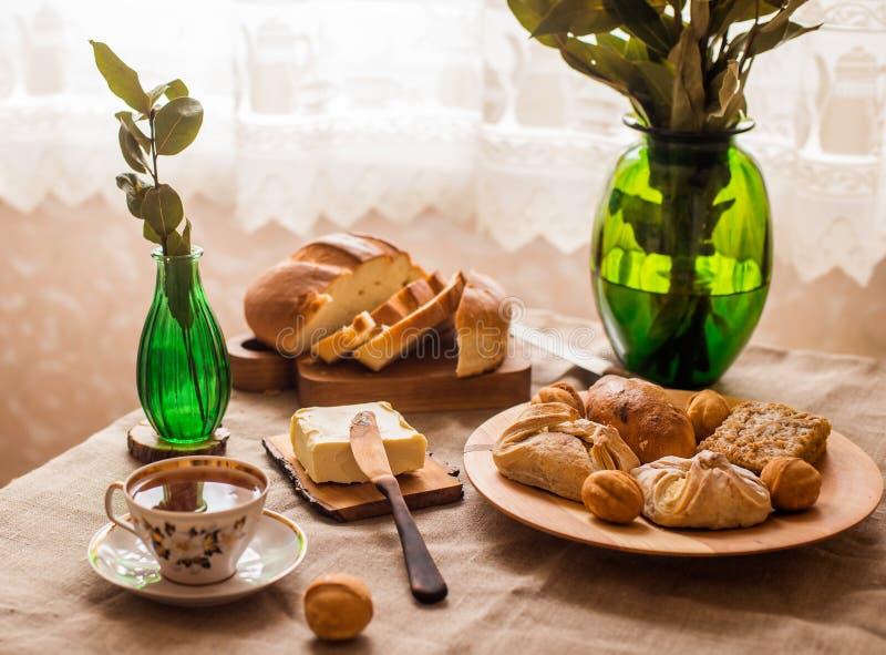 Tasty home breakfast stock photos