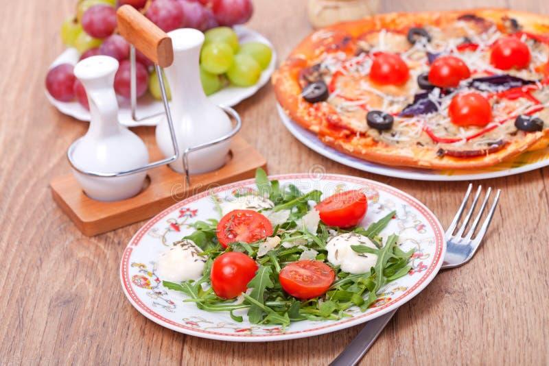 Tasty italian course royalty free stock photo