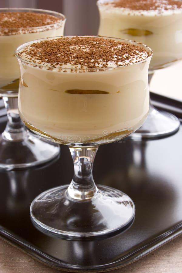 Tasty italian dessert stock images