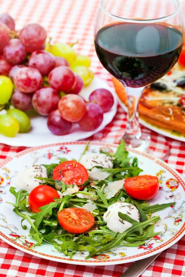 Tasty italian dinner royalty free stock images
