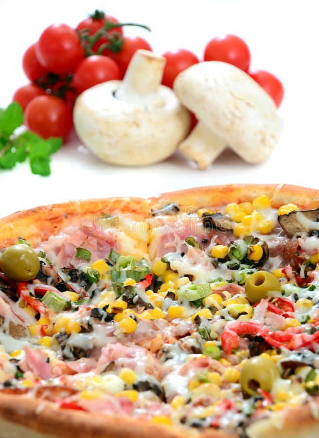 Download Tasty Italian pizza stock image. Image of european, gourmet - 18999799