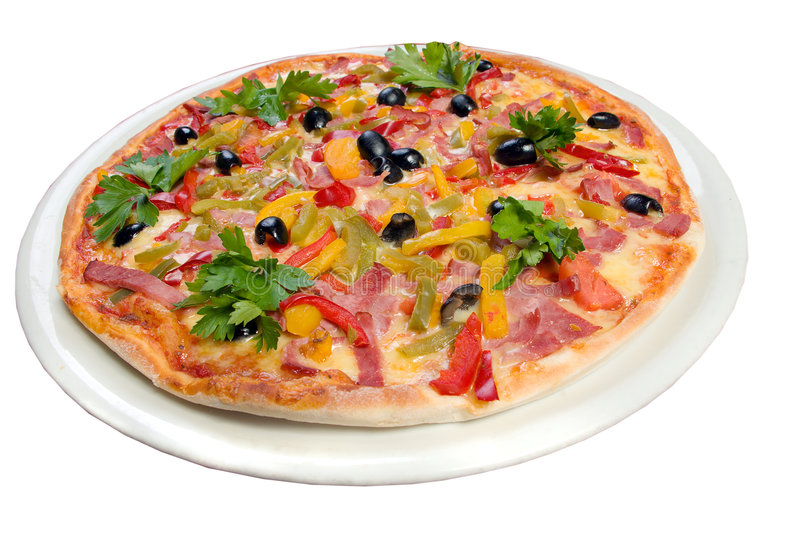 Tasty Italian pizza.Neapolitan,Close-up stock image