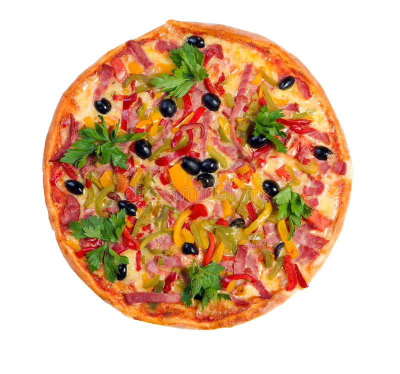 Tasty Italian pizza.Neapolitan isolated stock images