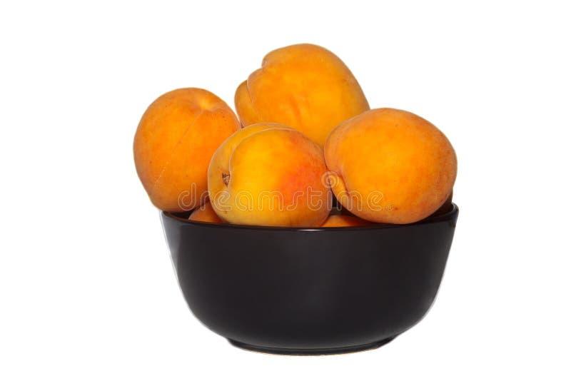 Tasty juicy peaches Isolated royalty free stock photo